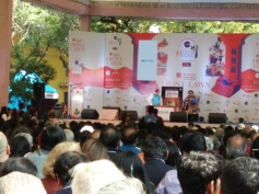 "Shashi Tharoor and Ashwin Sanghi discussing latter's new book ""Keepers of the Kalachakra"""