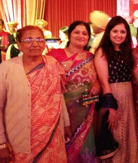 With ma and grandma at one of the weddings