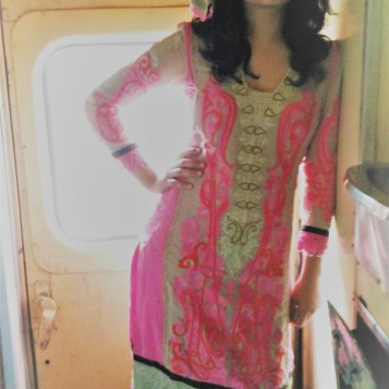Getting clicked on the train on the last day of the journey. Theme - ethnic