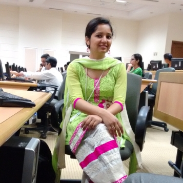 The one in class. Traditional day in office, hence all decked up.