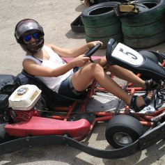 Go-carting on a weekend