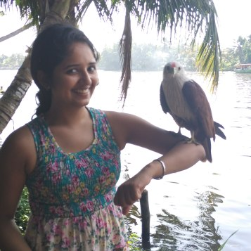 Making a new friend in the backwaters of Alleppey