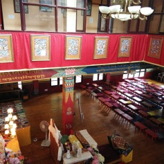 A look at the gompa from the first floor. It was a huge room that easily accommodated 100+ students